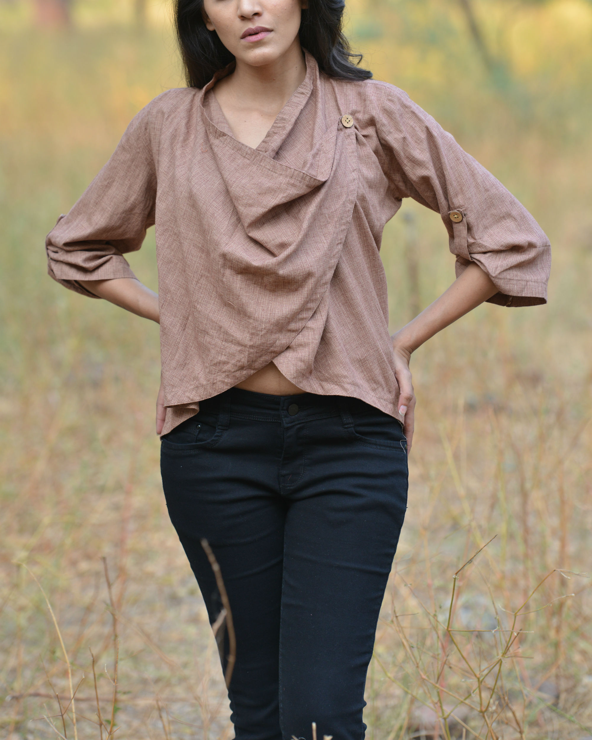 Brown freefall top