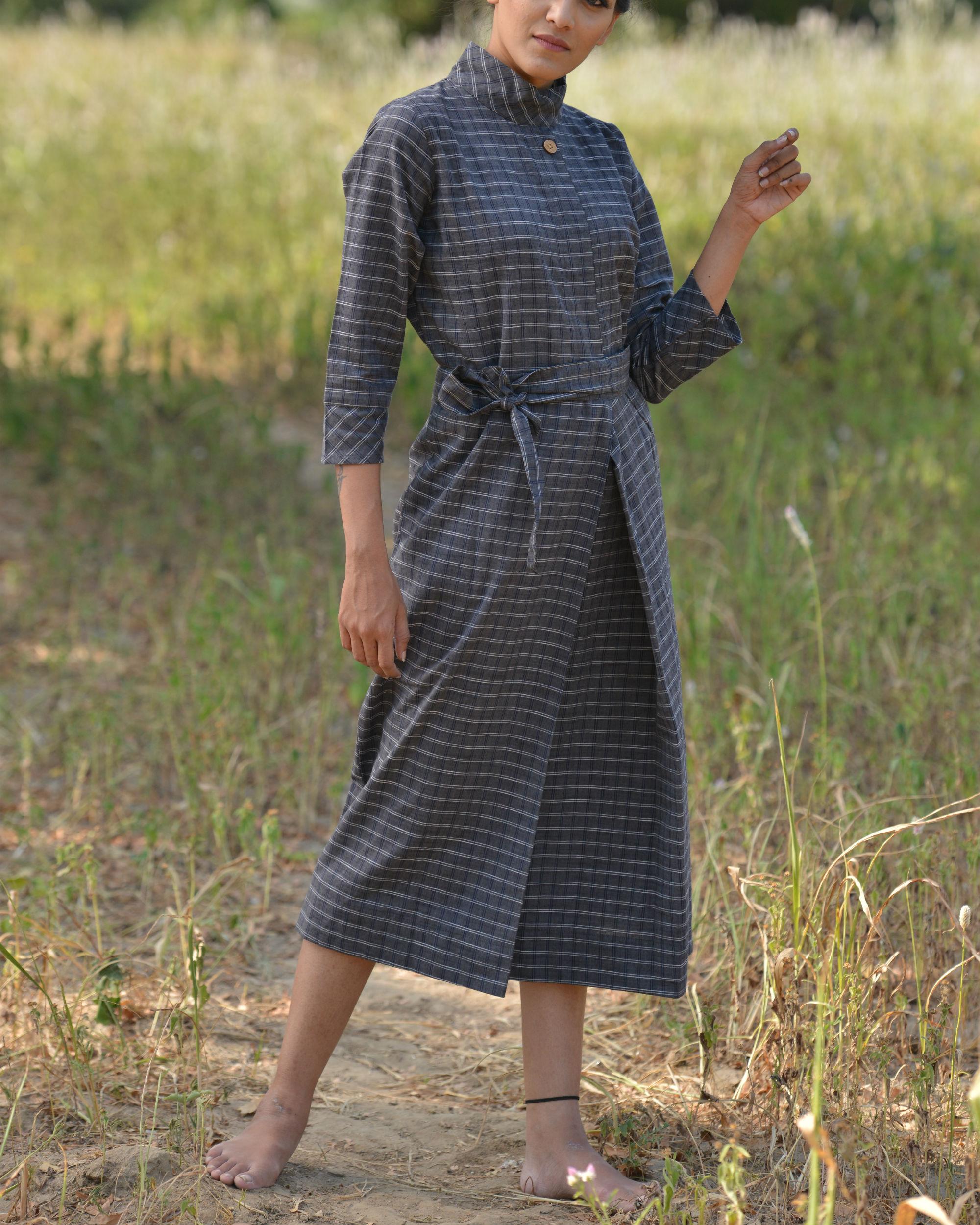 Coal high neck dress