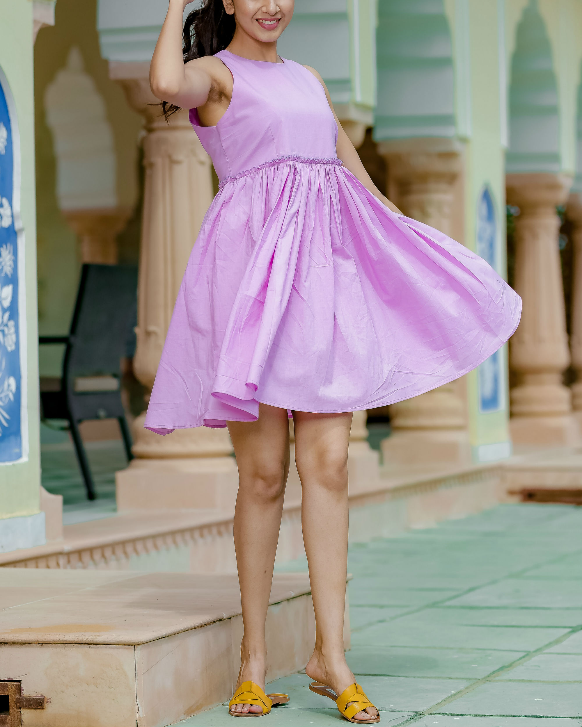 Short mauve dress