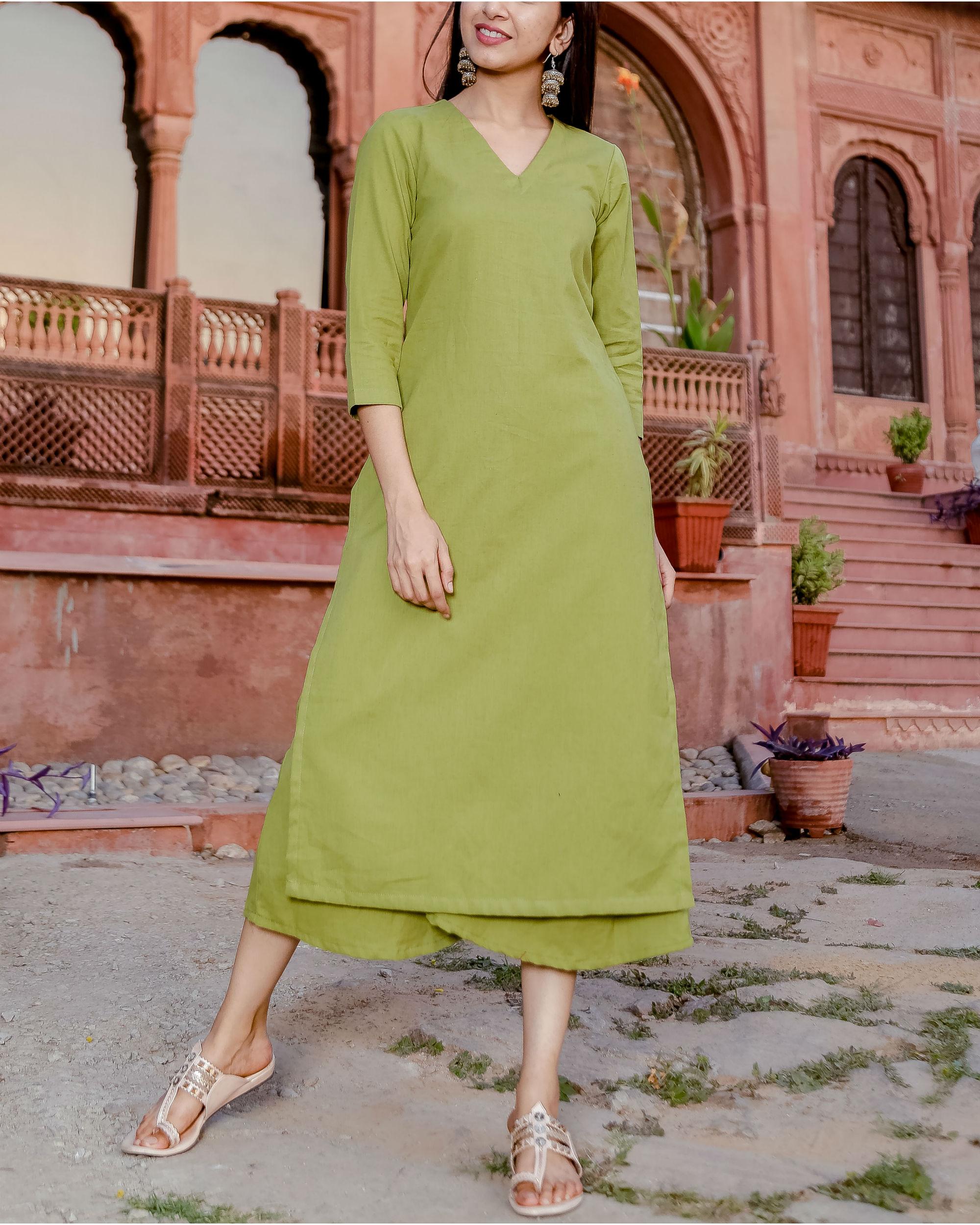 Grape green kurta set