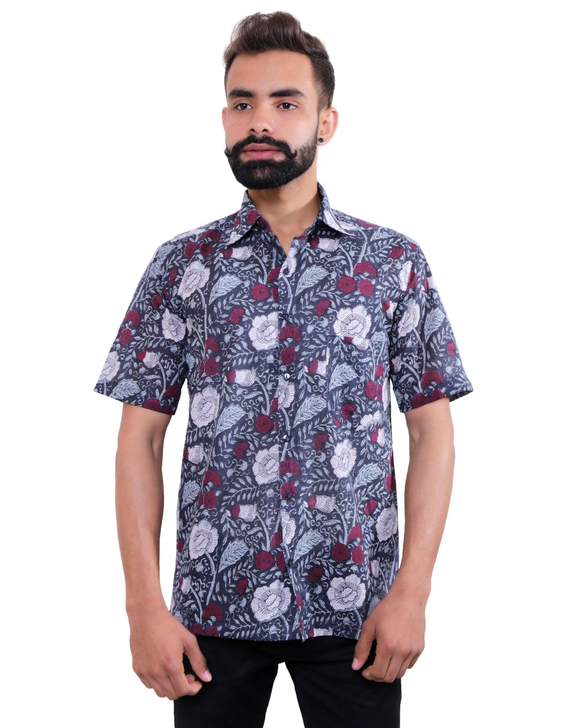 Garden printed cotton shirt