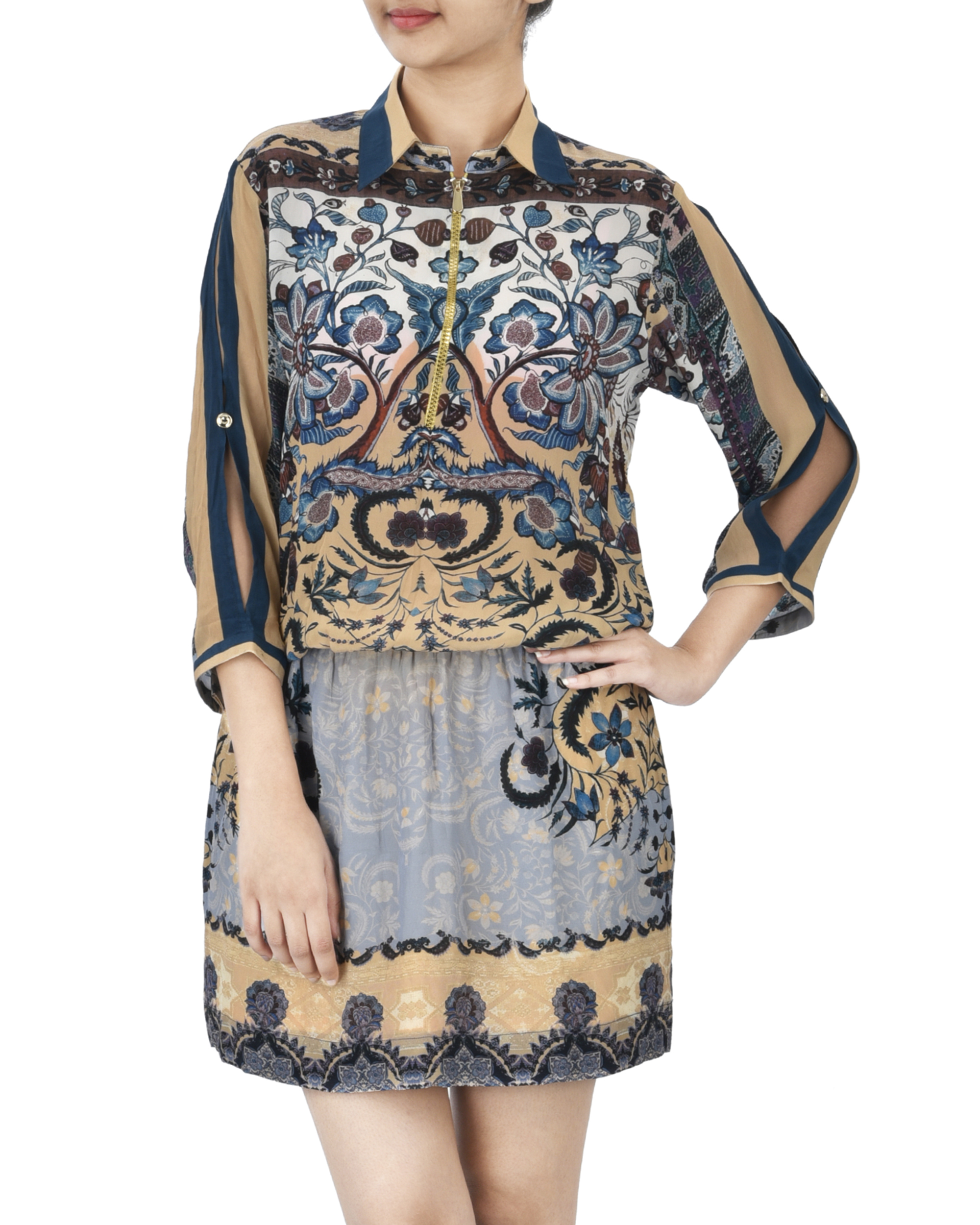 Mosaic print dress