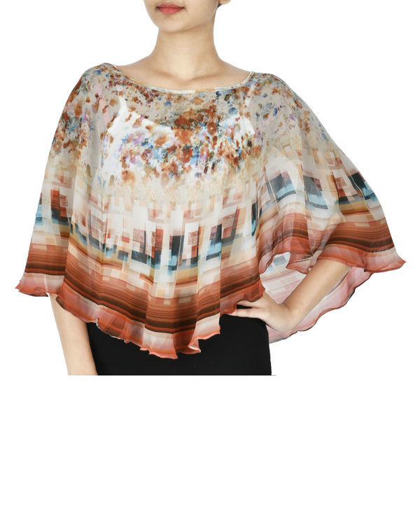 Brown georgette cape