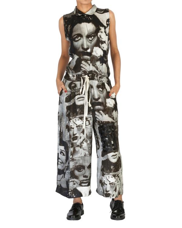 Collage print jumpsuit