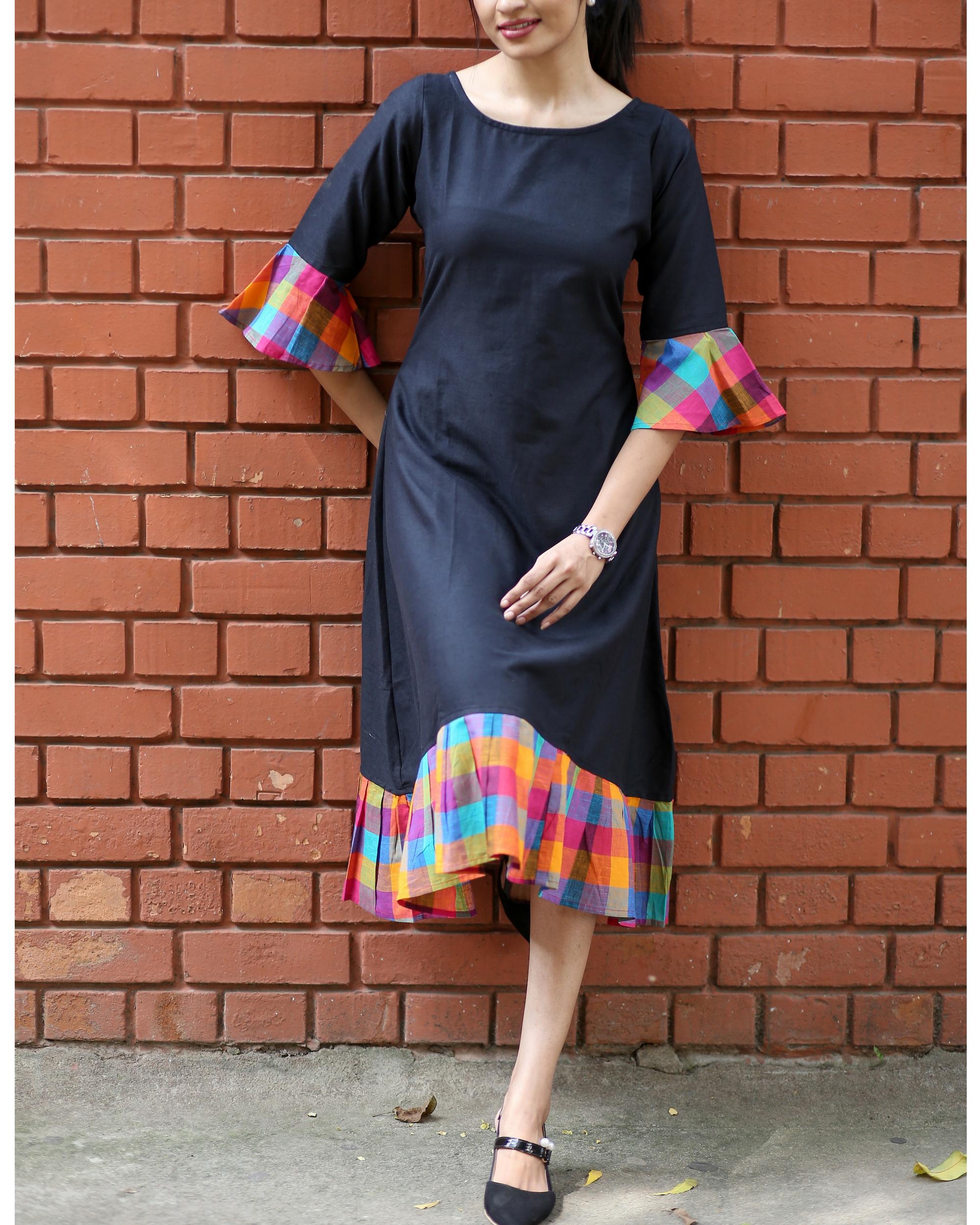 Multicolour checks dress