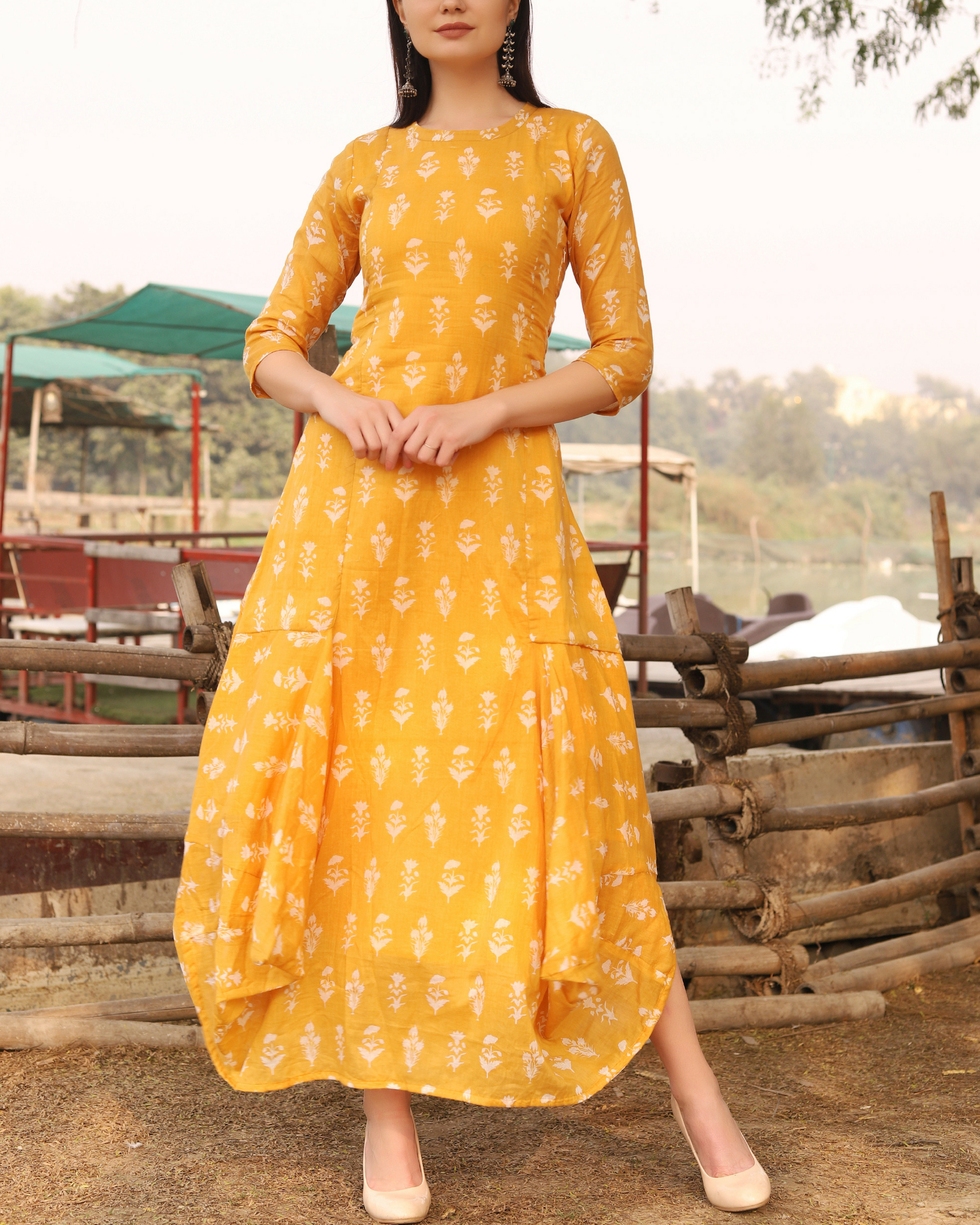 Breezy yellow dress