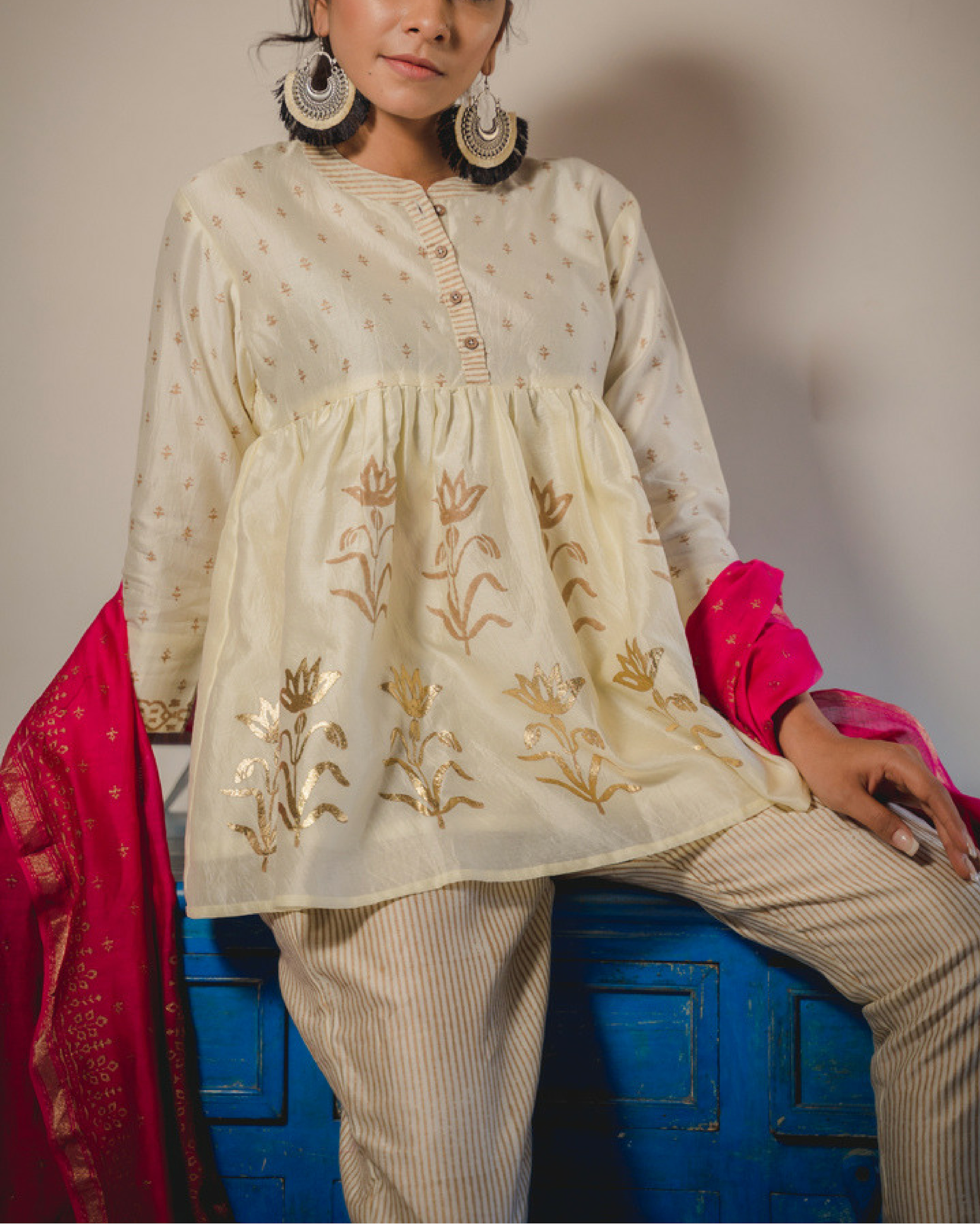 Azmat kurta set with dupatta