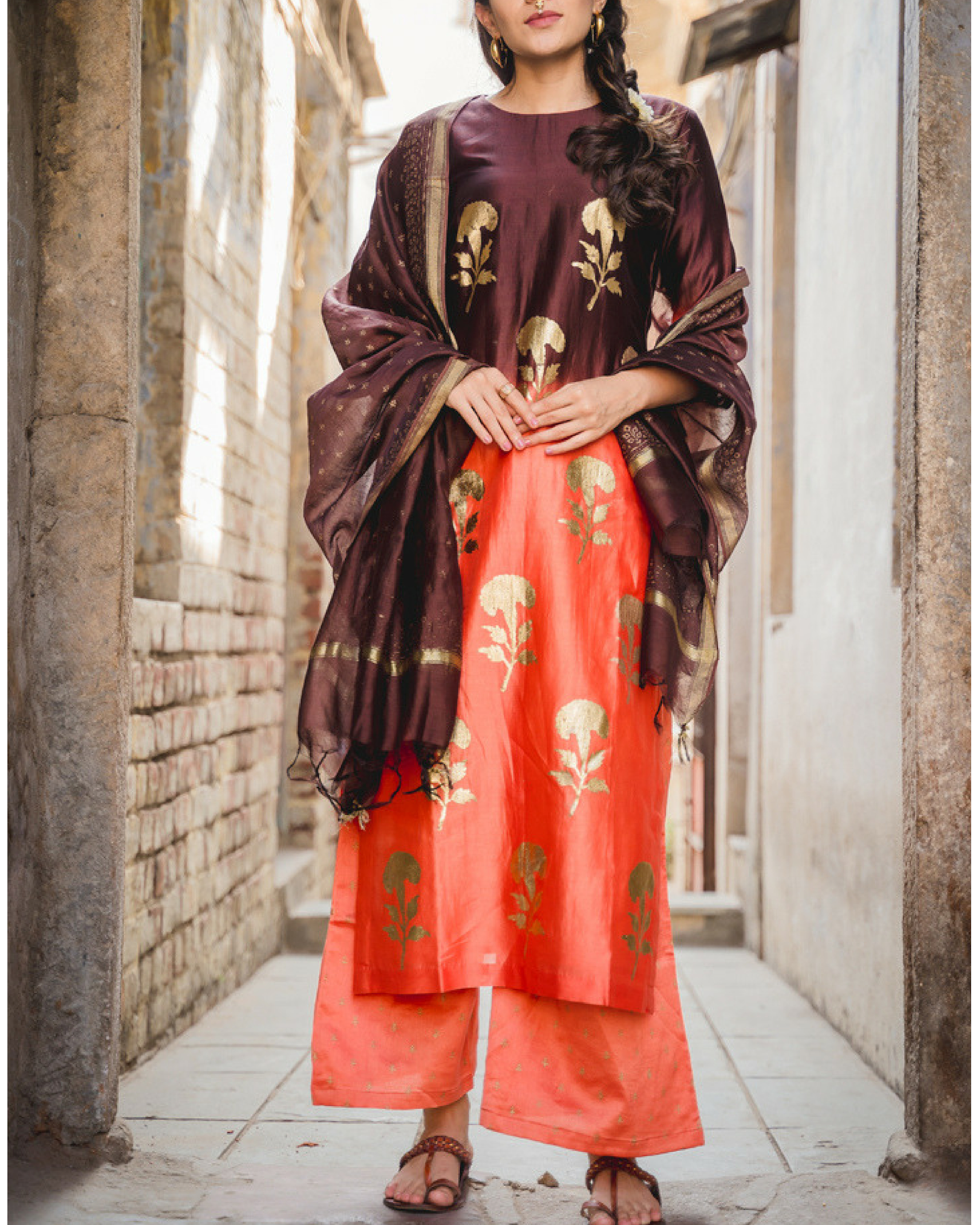 Falak kurta set with dupatta