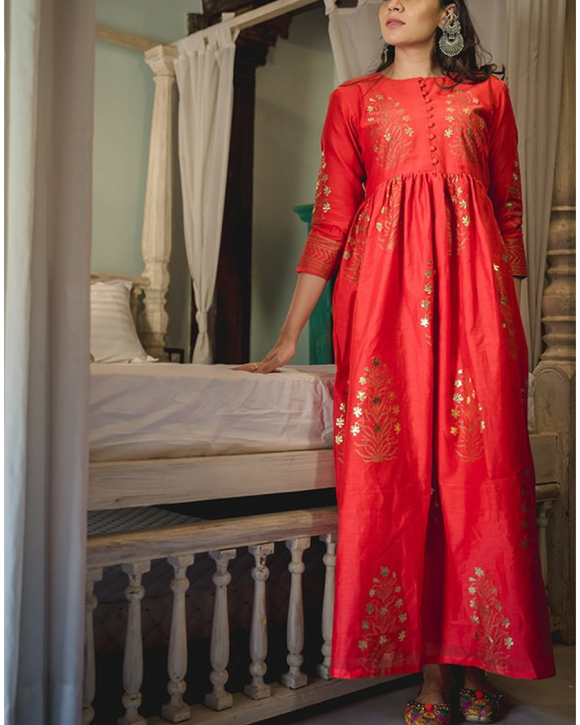 Zubeida foil dress & palazzo
