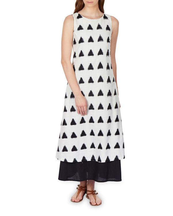 Layered ikat maxi dress