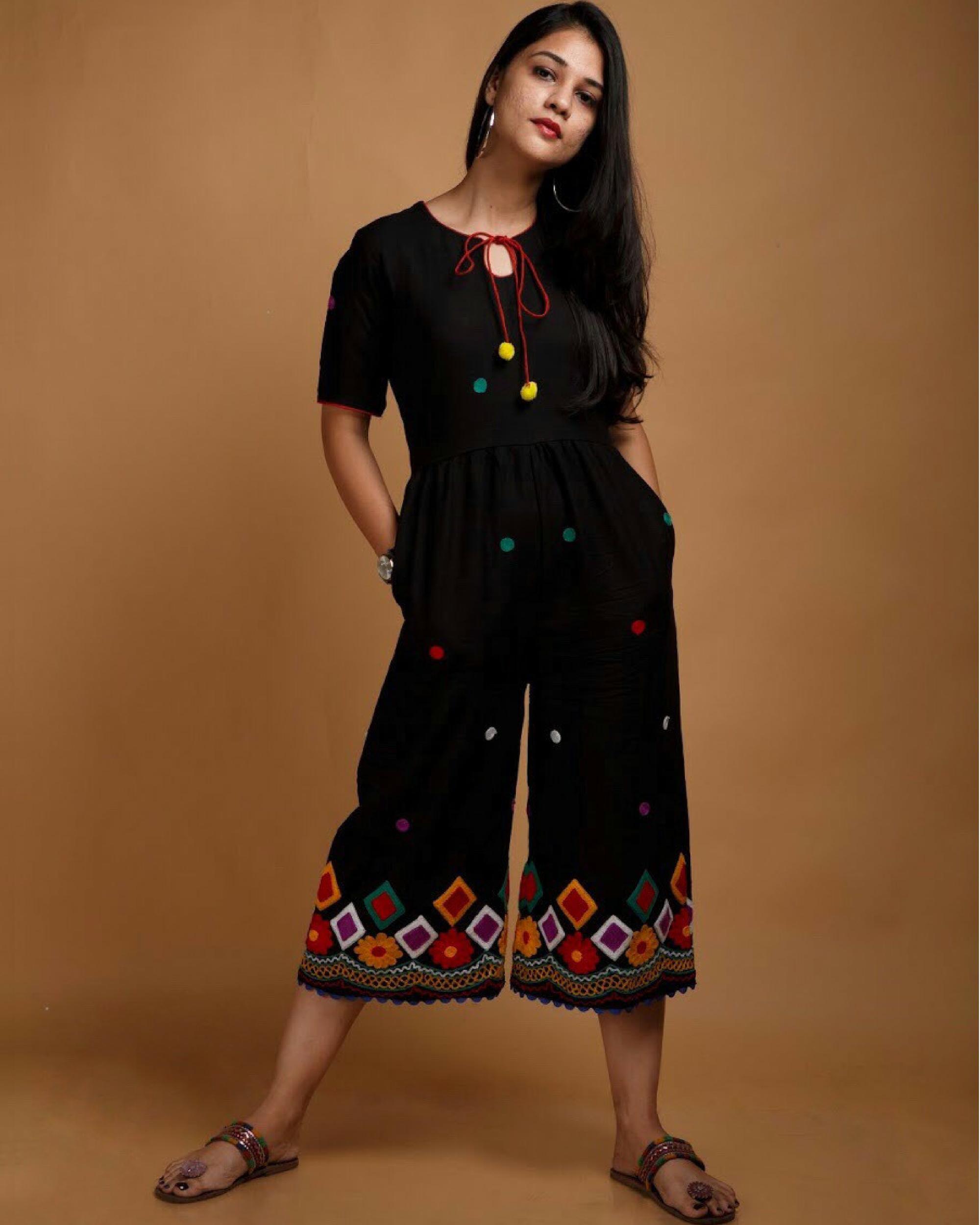 Black and multicolour jumpsuit