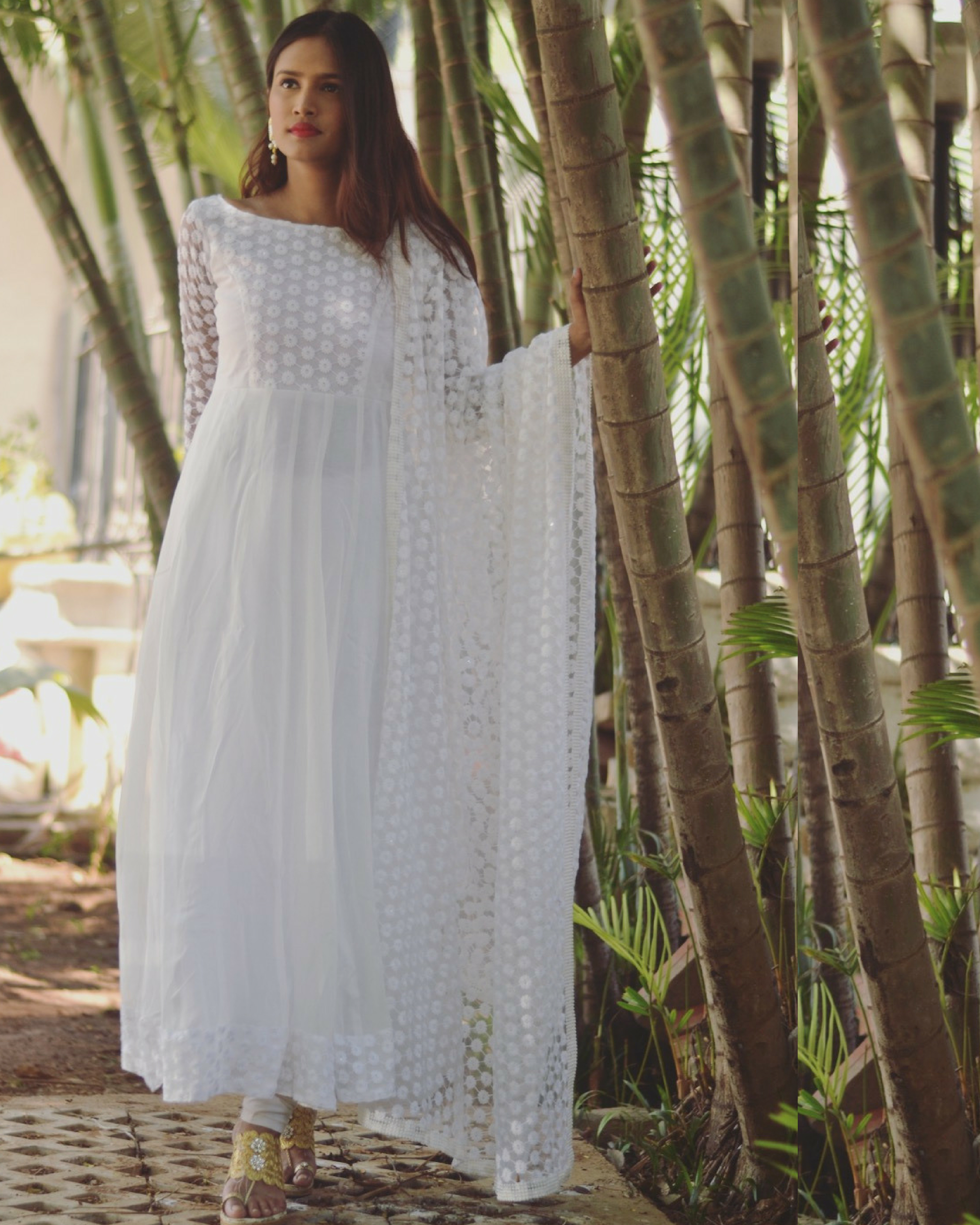 3cfdbc1ae00 White star dress with dupatta by Tie & Dye Tale | The Secret Label