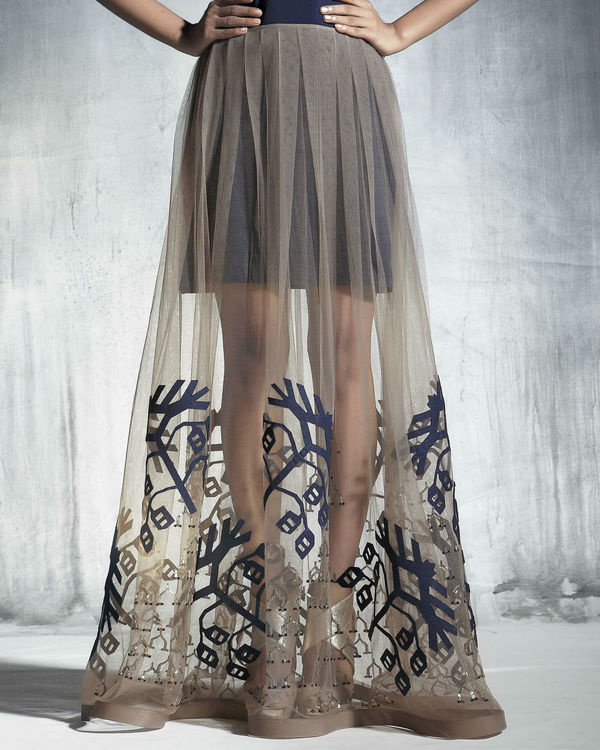 Organza flared skirt