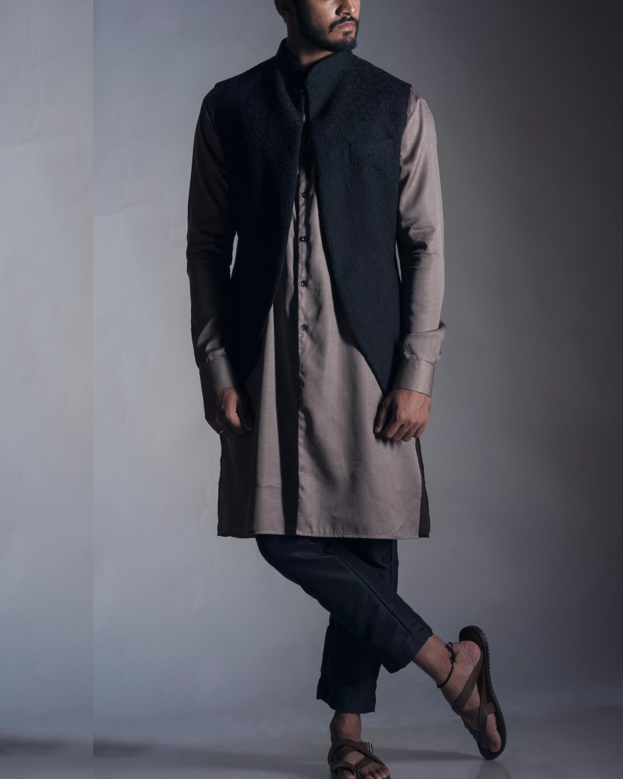 Chikankari nehru coat set