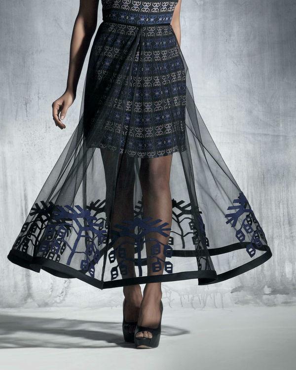 Silk organza circular skirt