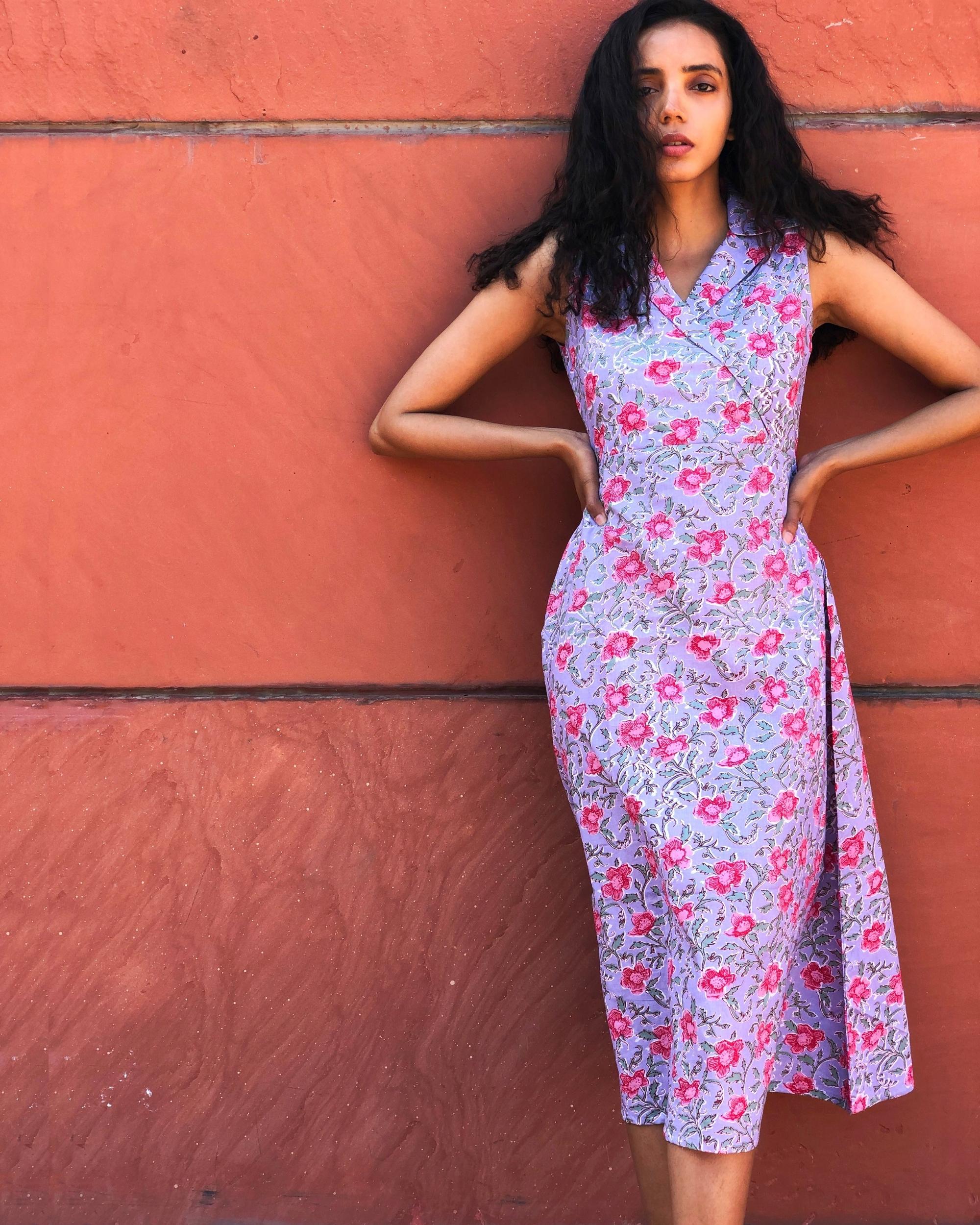 Opera mauve floral printed tunic
