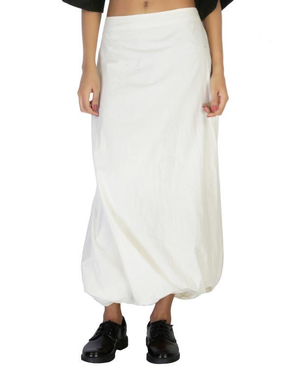 Twisted dhoti skirt