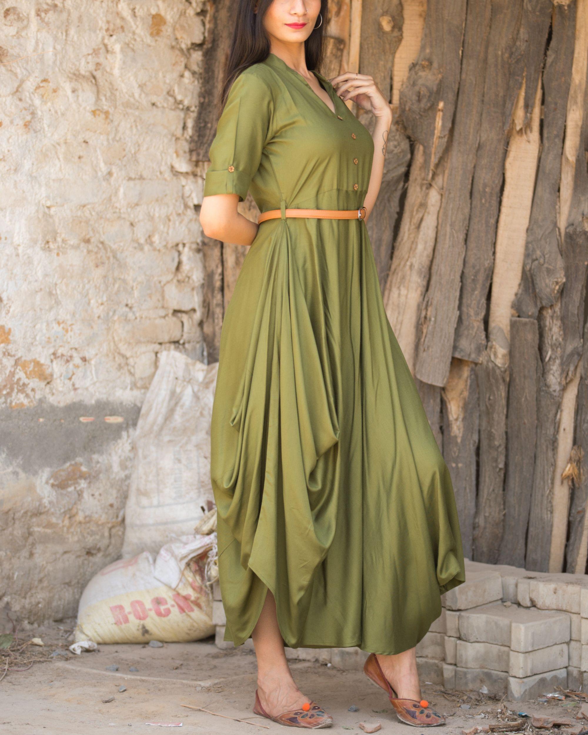 Olive Dress,Green Maxi Dresses,Olive Maxi Dresses,Belt Dress,olive dress,
