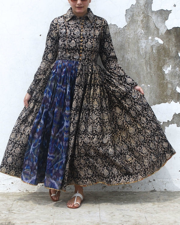 Kalamkari noir dress