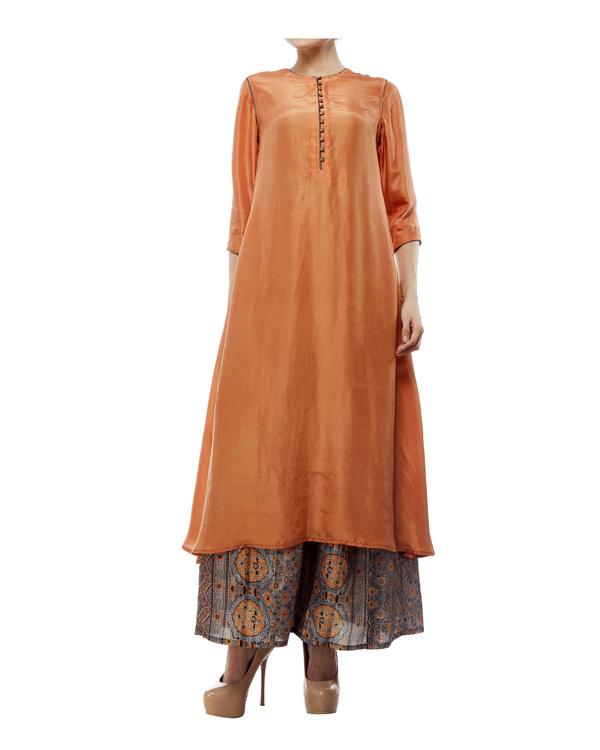 Dusty orange silk tunic