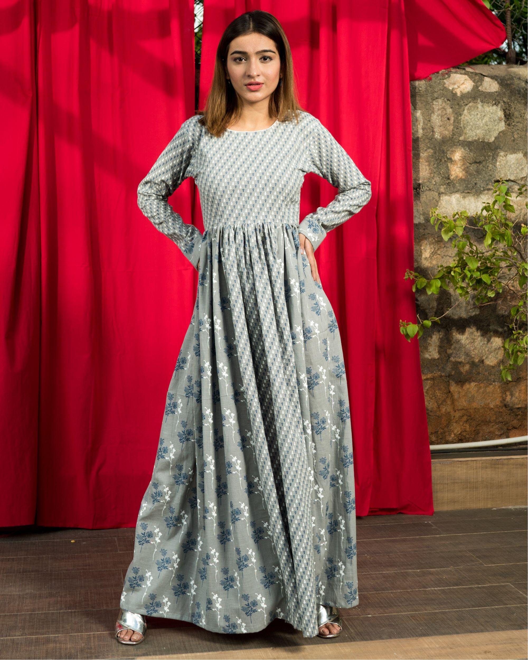 Cotton flux grey dress