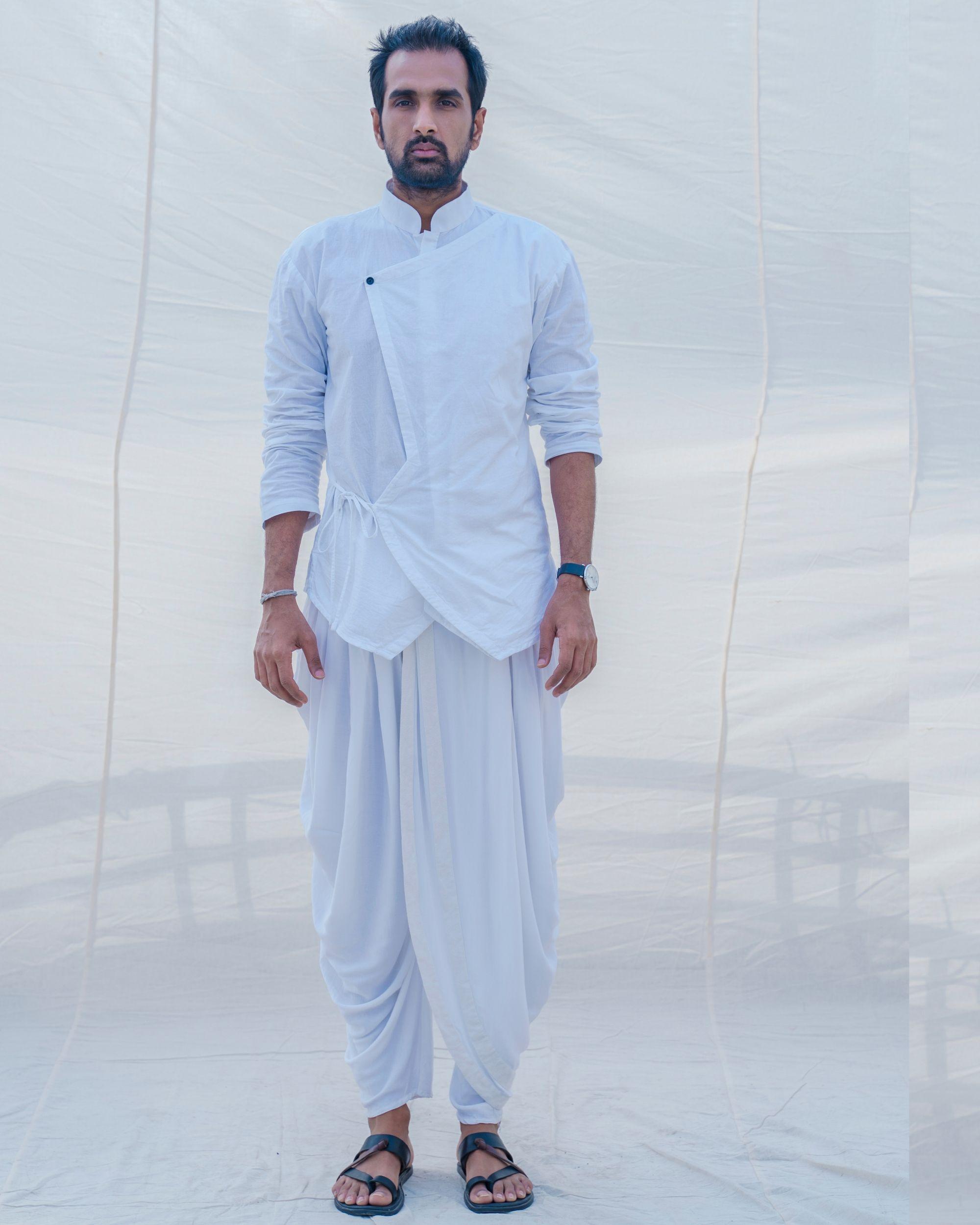 White cotton short kurta