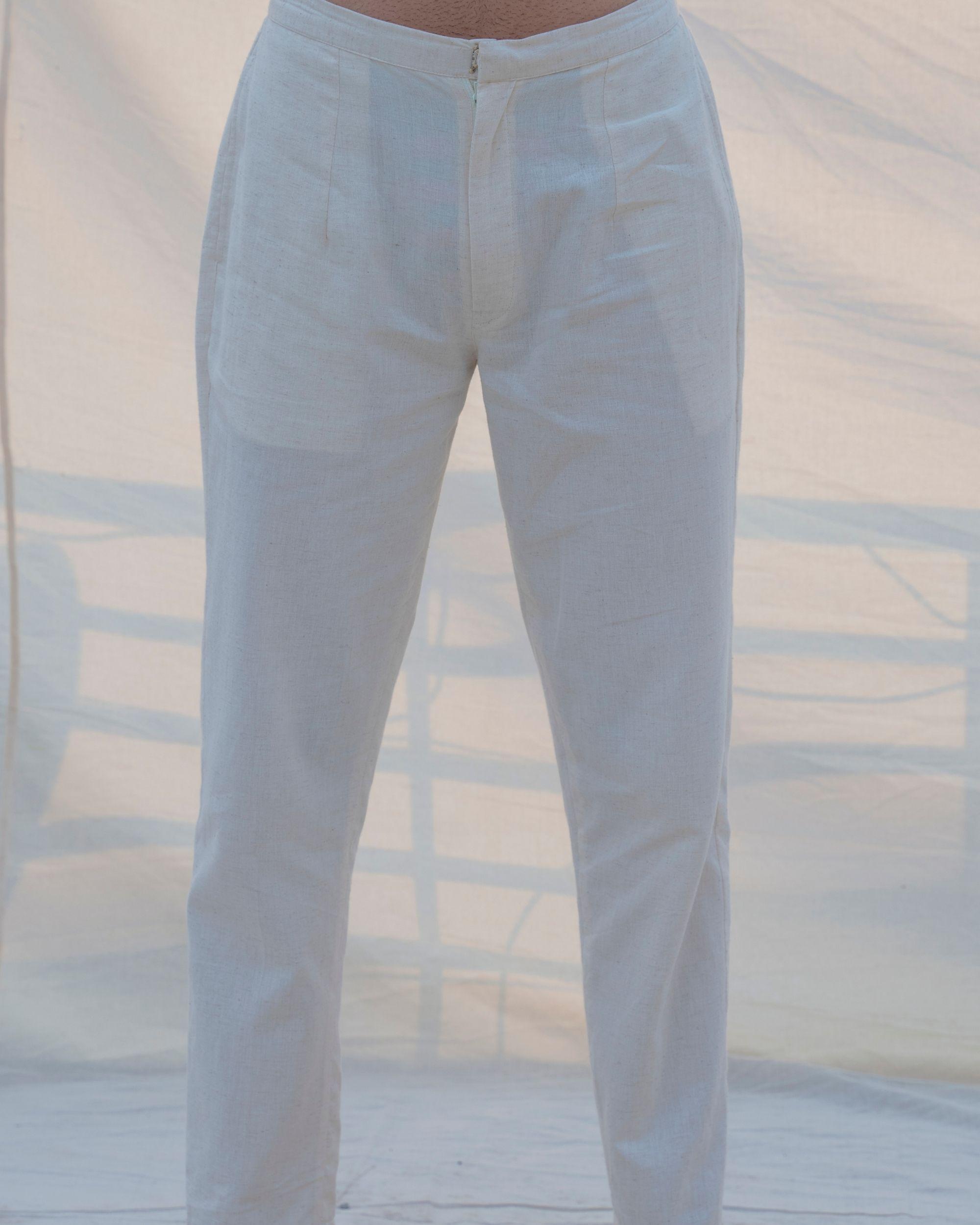 Off white cotton pants