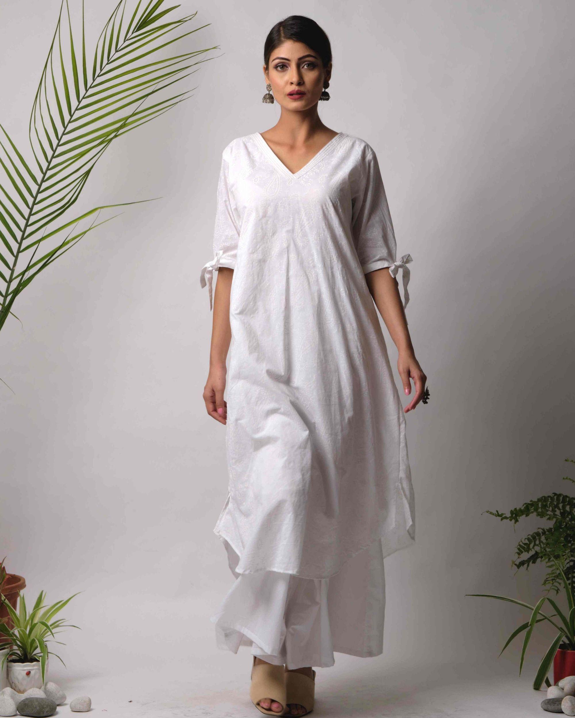Ruma cotton kurta and pant -set of two