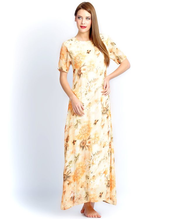 Sunflower yellow long gown