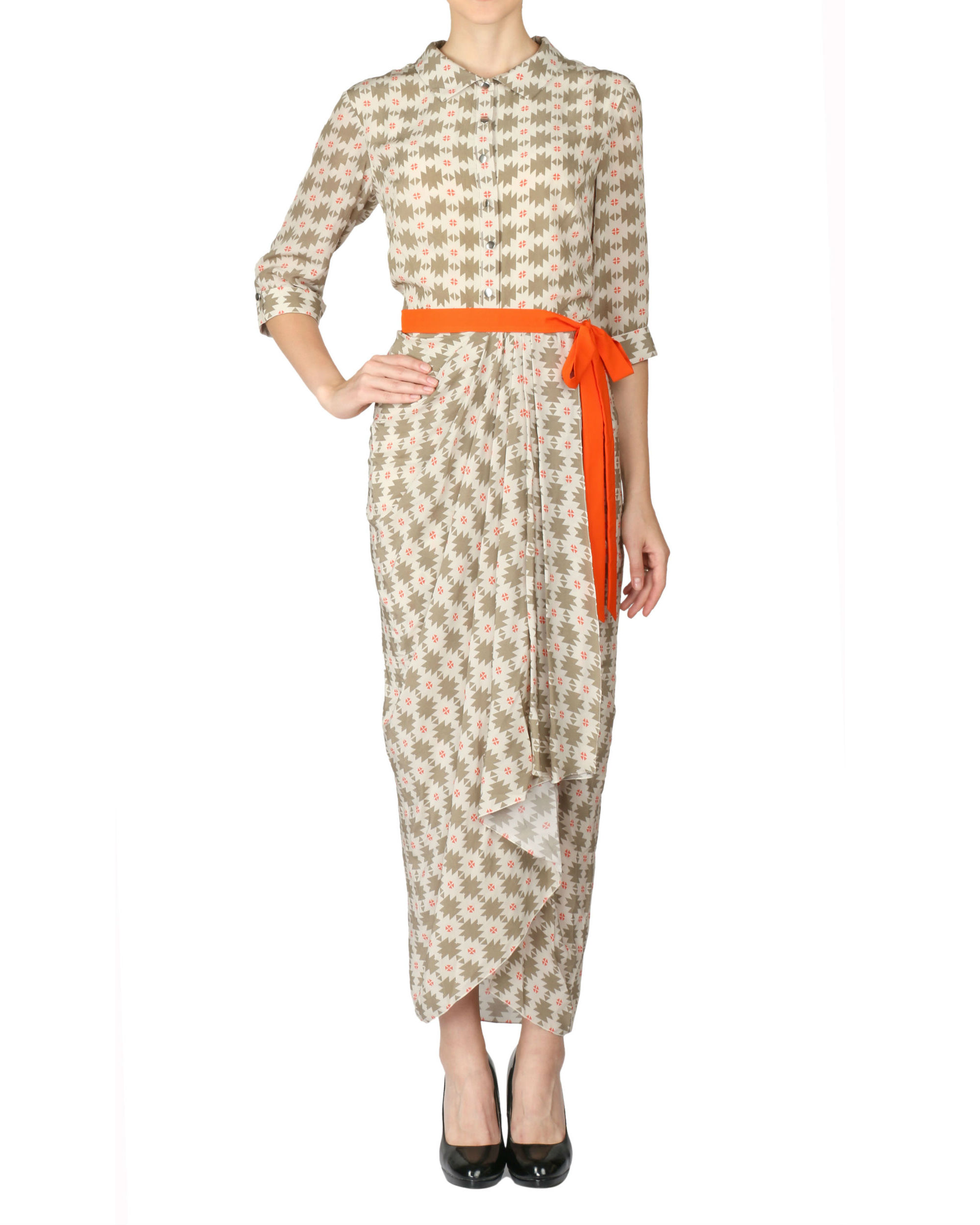 Printed dhoti dress