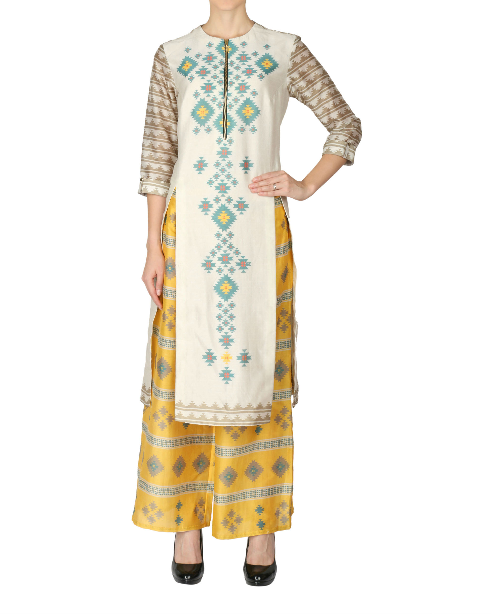 Quirky kurta and palazzo set