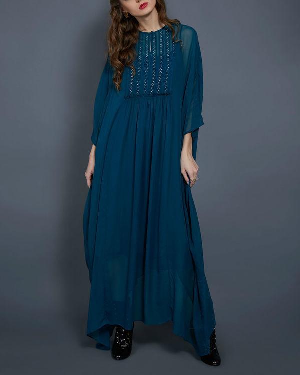 Emerald kaftan dress