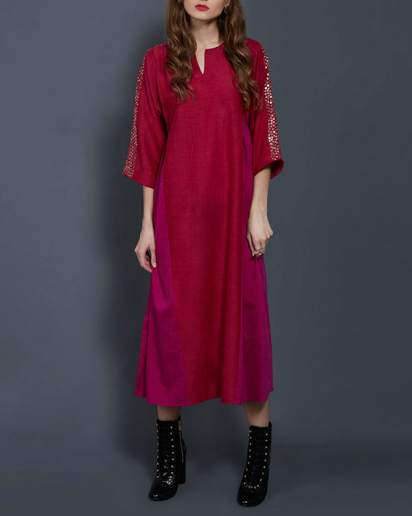Cherry panelled tunic