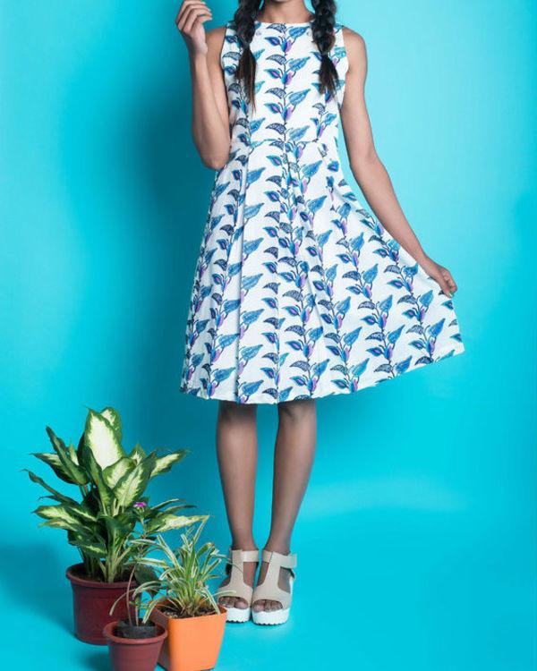 Multi colour floral pleat insert dress