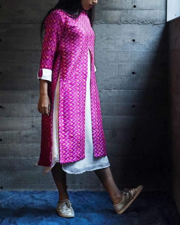 Magenta maze dress