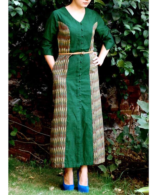 Emerald shirt dress