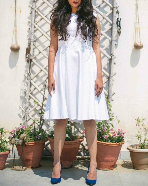 White cotton lycra Dress