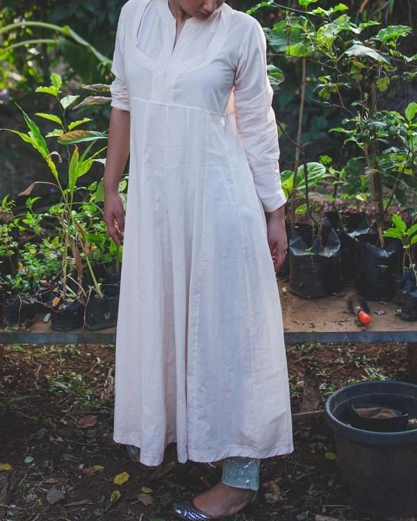 Old rose cotton kurta