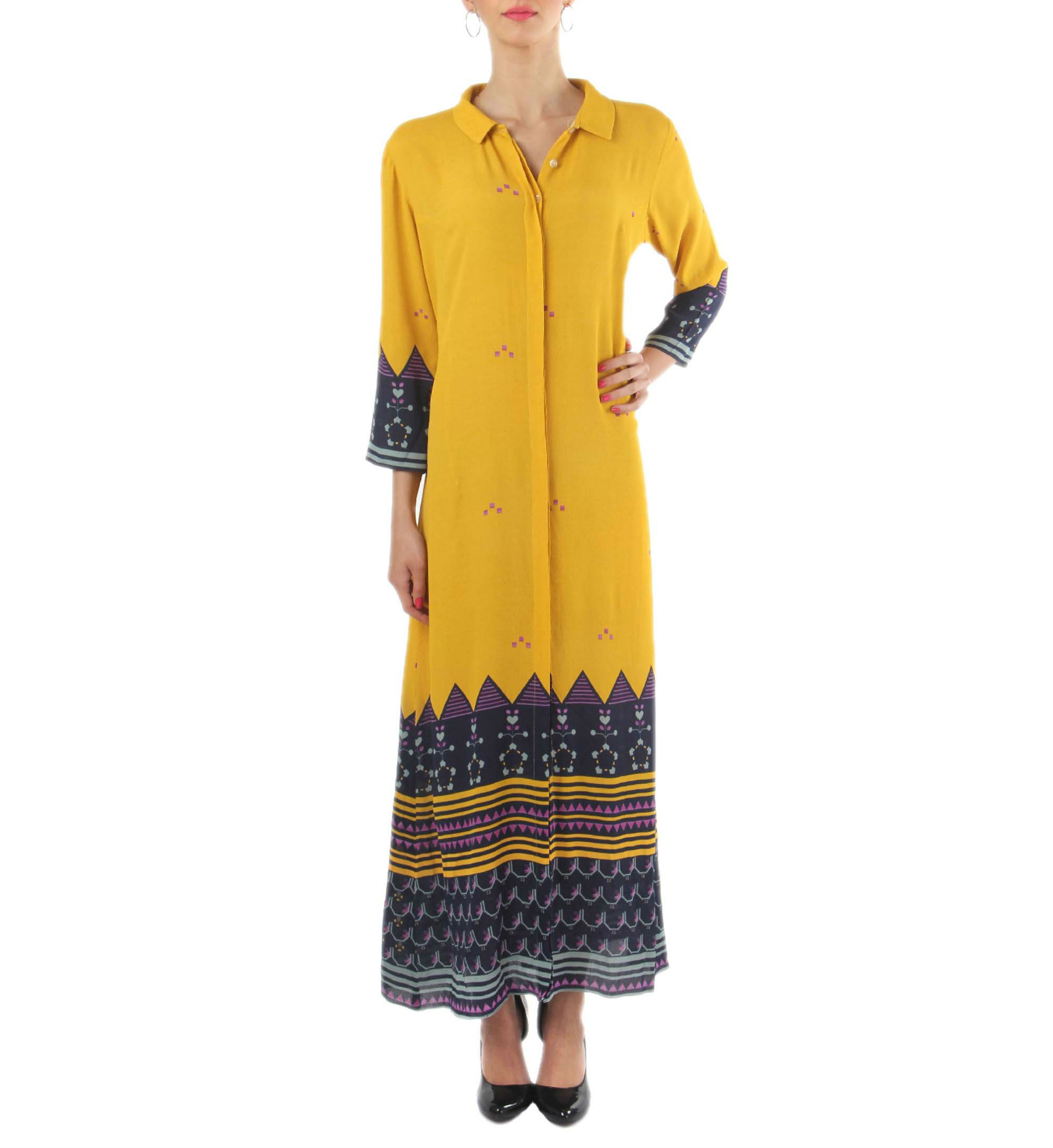 Chrome yellow long dress