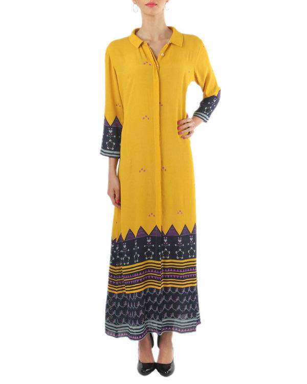 Chrome yellow long dress