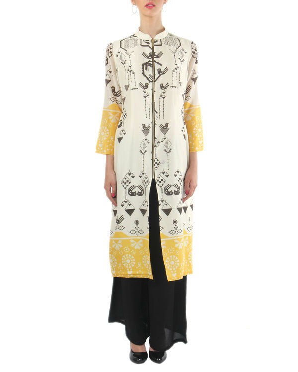 Chanderi kurta and palazzo set