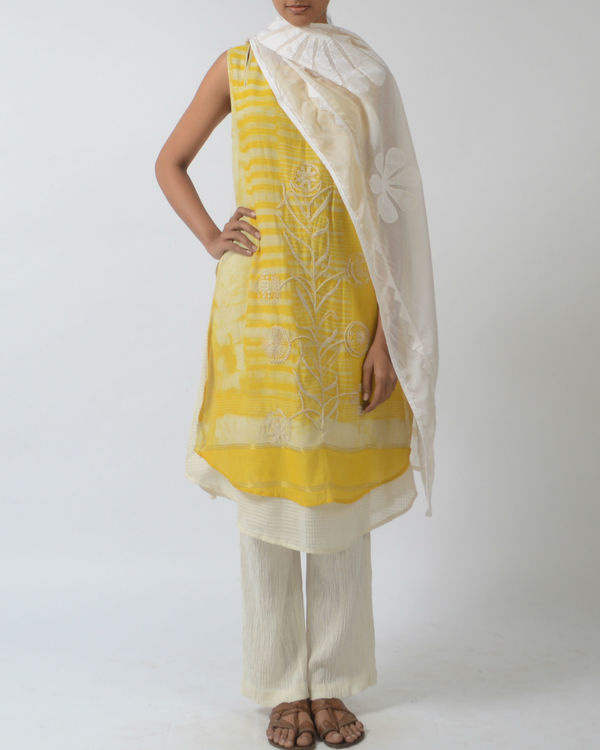 Yellow double layered tunic