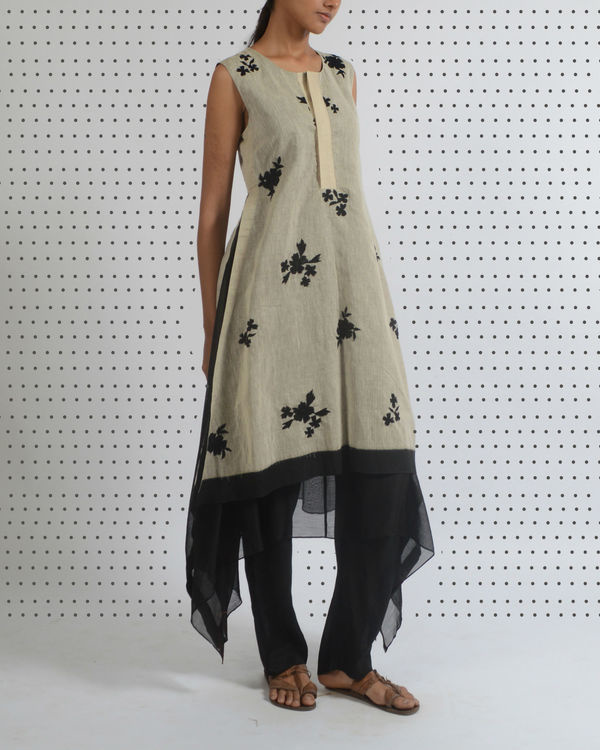 Off white tussar tunic