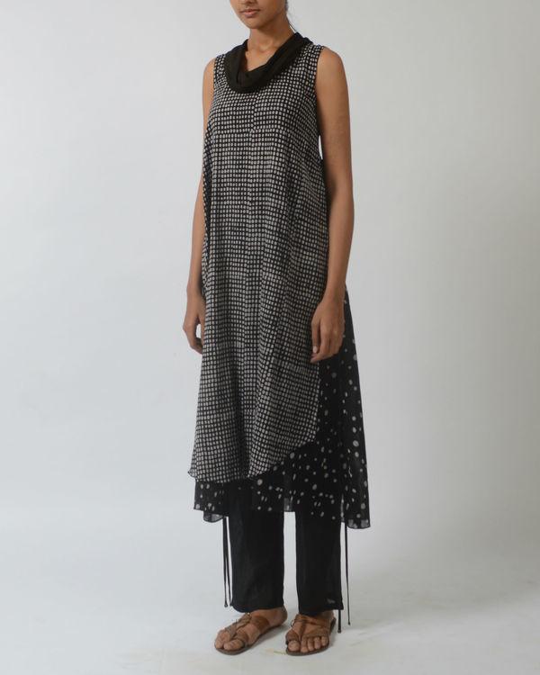 Black polka print tunic