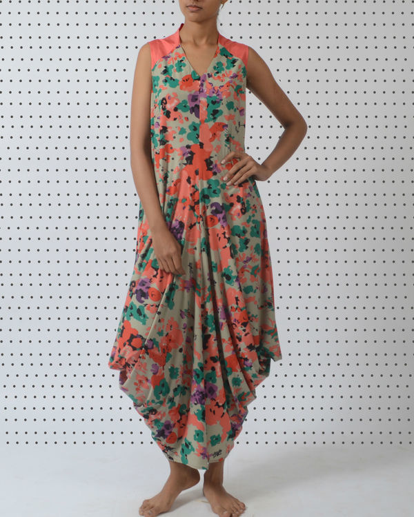 Draped dhoti dress