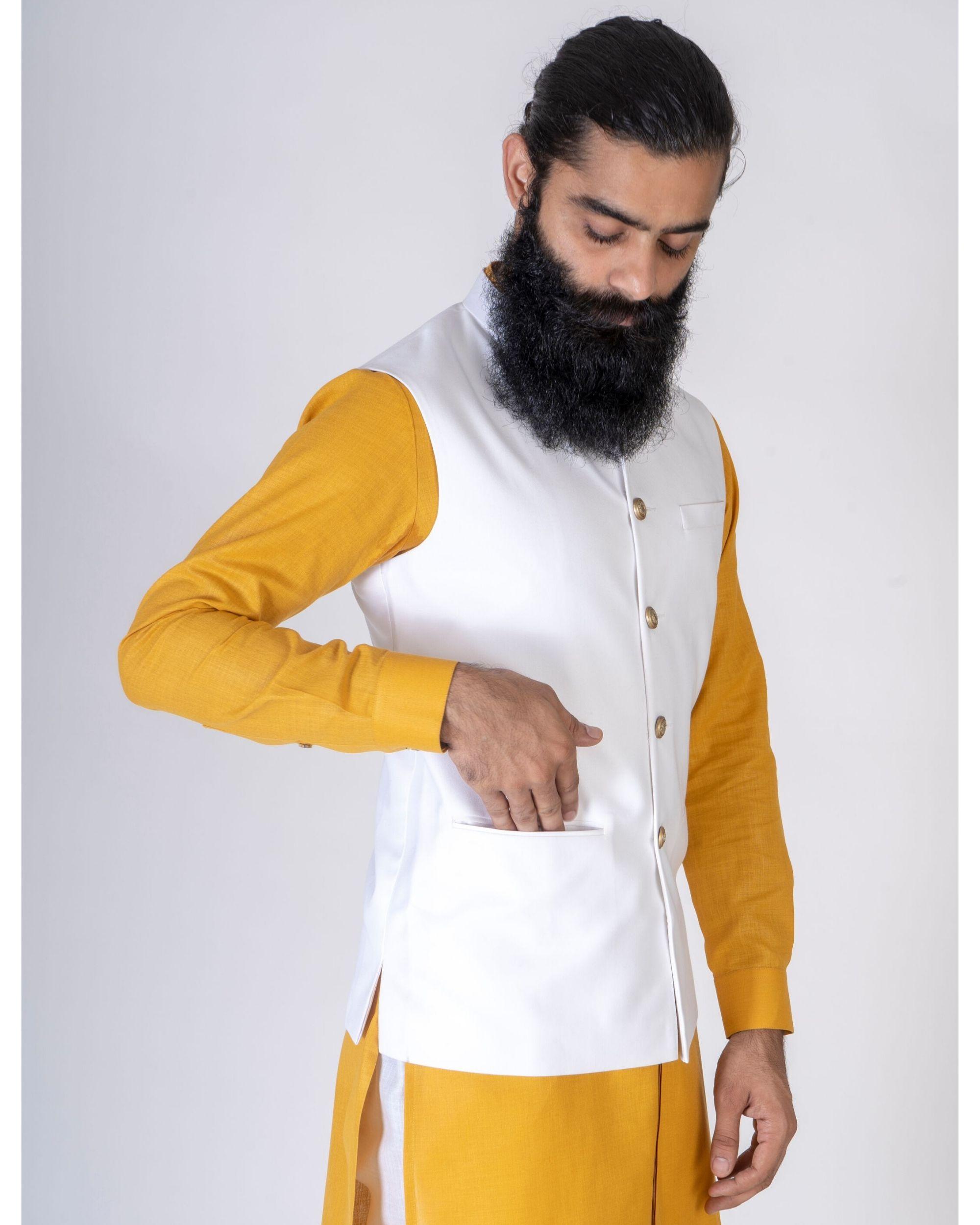 Off white nehru jacket