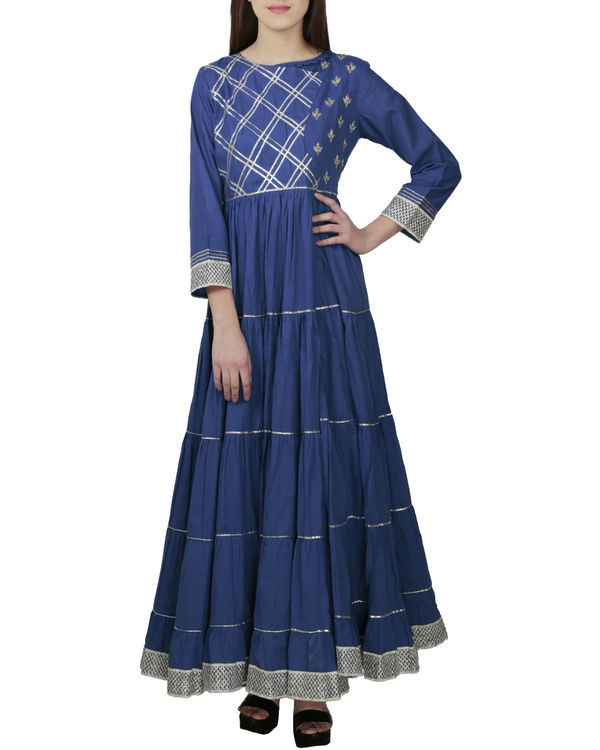 Royal blue angrakha with palazzo