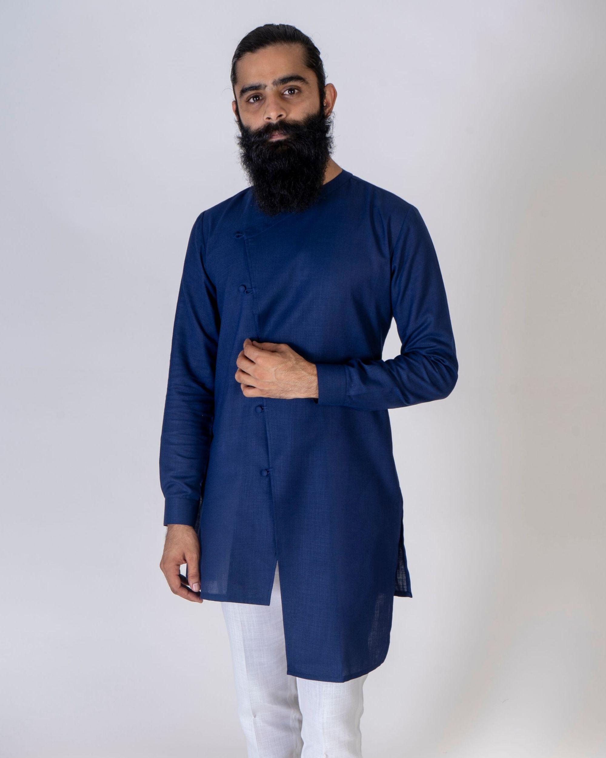 Blue asymmetrical kurta