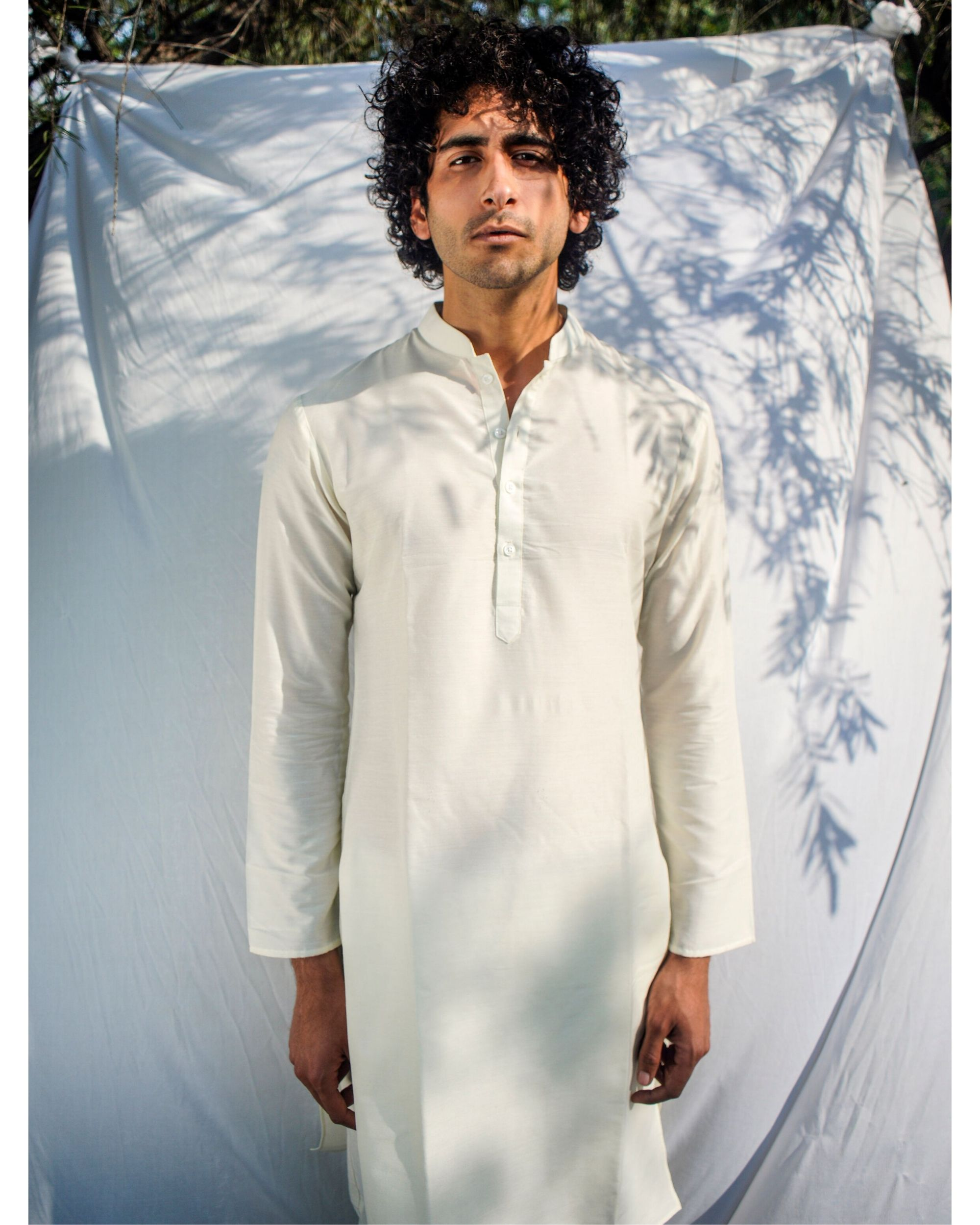 Off white straight kurta