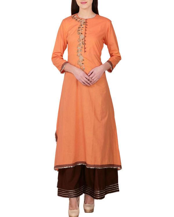 Earthy orange tunic with palazzo